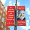 Two of Seven Quality Care Pole Banners
